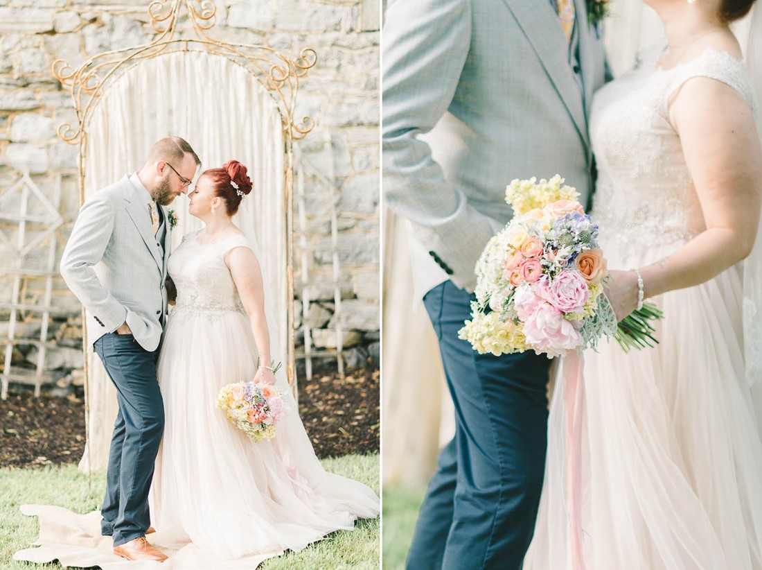 Vintage Bride & Groom - A Romantic Vintage Spring Wedding
