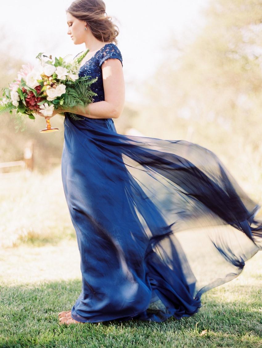 Blue Bridal Gown