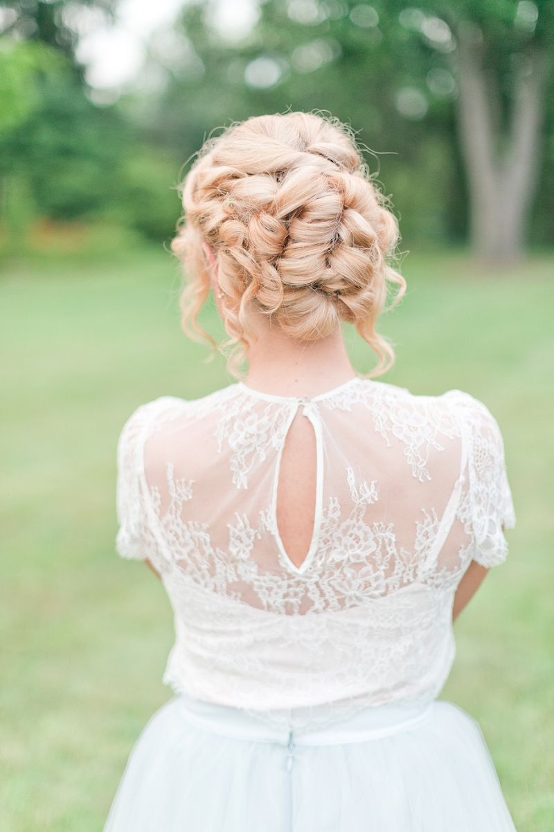 Bridesmaid updo - Pretty Spring Wedding Ideas in Soft Pastels and Rose Gold