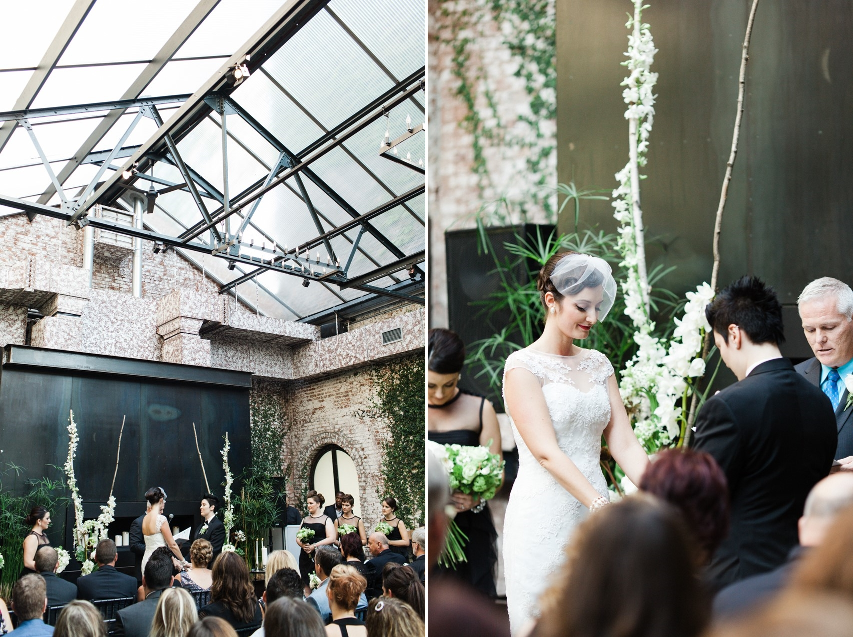Same Sex Wedding - A Vintage Inspired City Wedding in a Crisp and Elegant Palette of Ivory, Black & Green
