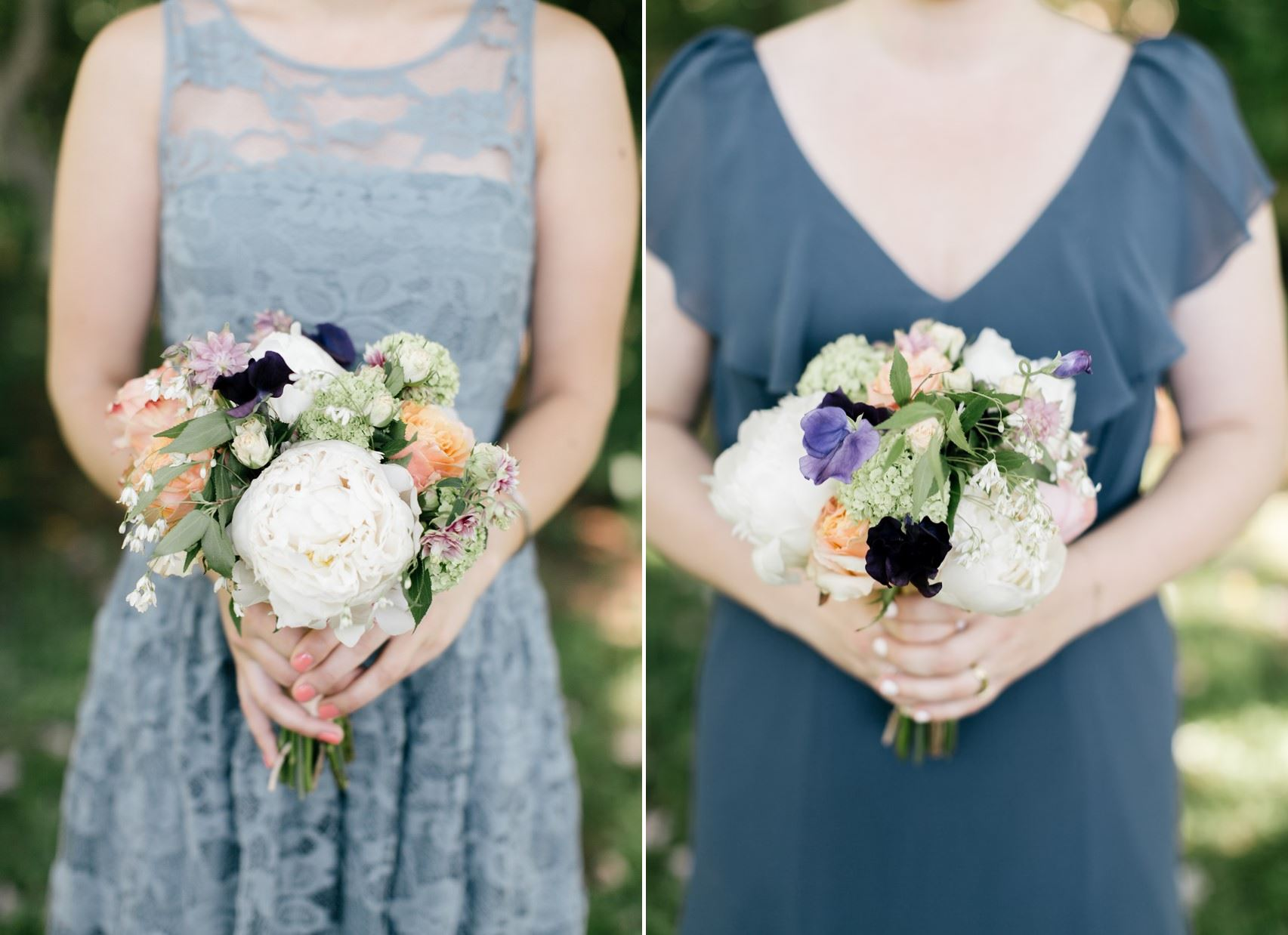 Romantic Bridesmaids Bouquets - An Enchanting Early Summer Garden Wedding