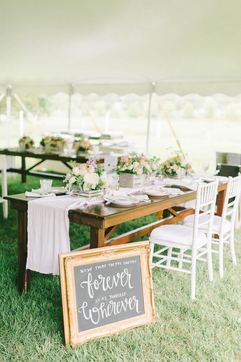 Vintage Wedding Marquee Reception - A Romantic Vintage Spring Wedding with a Marquee Reception