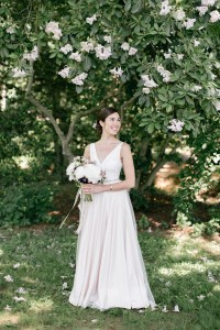 Bride in a Blush Wedding Dress - An Enchanting Early Summer Garden Wedding