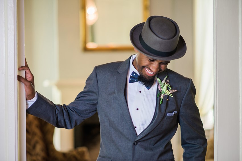 Art Deco Groom - Stylish Jazz Age Wedding inspiration Full of Decadence