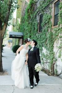 Gay Wedding - A Vintage Inspired City Wedding in a Crisp and Elegant Palette of Ivory, Black & Green