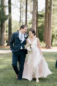 Blush Wedding Dress - An Enchanting Early Summer Garden Wedding