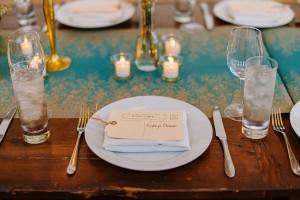 Wedding Placesetting - A DIY City Wedding with a Stunning 1930s Wedding Dress