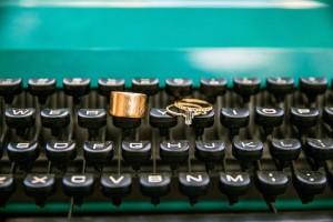 Wedding Rings Literary Love - Mid-Century Vintage Wedding Shoot Inspired by Penguin Books