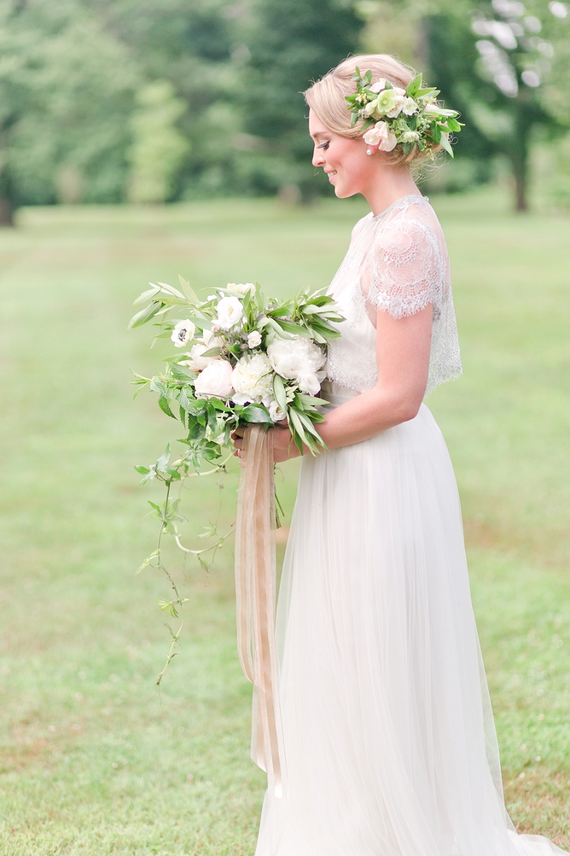Wedding Dress - Romantic Spring Wedding Inspiration in Pretty Pastels and Rose Gold