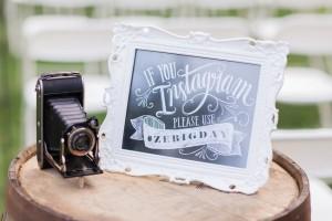 Wedding Instagram Sign - A Romantic Modern-Vintage Wedding with an Elegant Barn Reception Romantic Modern-Vintage Wedding with an Elegant Barn Reception