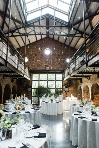 Wedding Reception - A Vintage Inspired City Wedding in a Crisp and Elegant Palette of Ivory, Black & Green