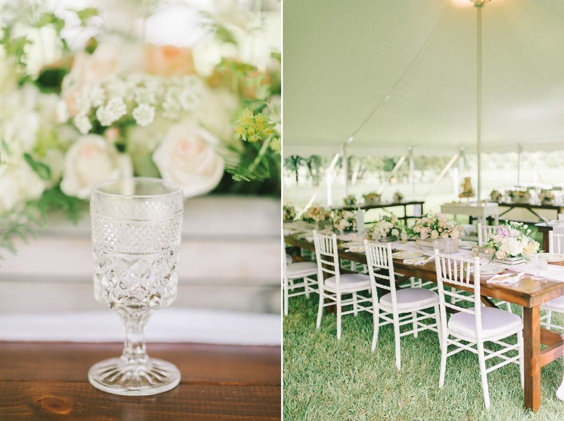 Wedding Reception Decor A Vintage Spring With Marquee