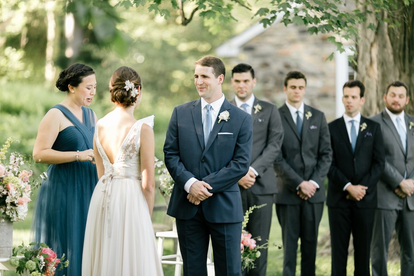 Garden Wedding Ceremony - An Enchanting Early Summer Garden Wedding