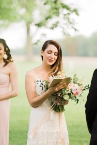 Personal Vows - A Romantic Modern-Vintage Wedding with an Elegant Barn Reception Romantic Modern-Vintage Wedding with an Elegant Barn Reception