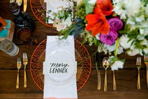Vintage Wedding Place Setting - Mid-Century Vintage Wedding Shoot Inspired by Penguin Books