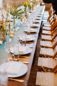 Wedding Tablescape - A DIY City Wedding with a Stunning 1930s Wedding Dress
