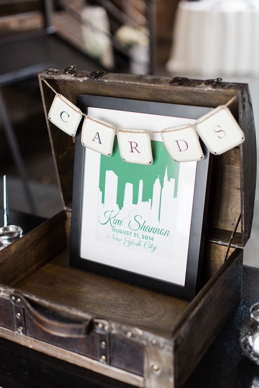 Wedding Reception Decor - A Vintage Inspired City Wedding in a Crisp and Elegant Palette of Ivory, Black & Green