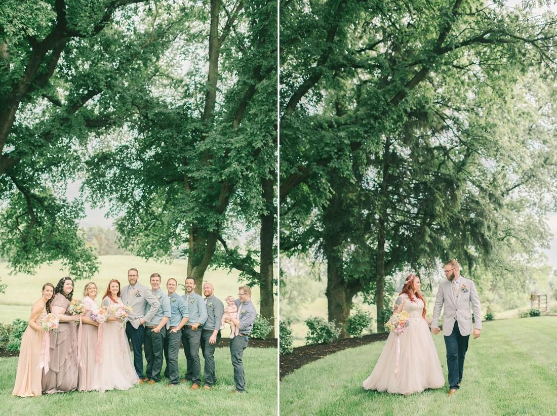 Vintage Bridal Party - A Romantic Vintage Spring Wedding