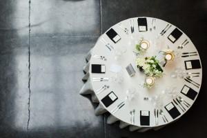 Wedding Tablescape - A Vintage Inspired City Wedding in a Crisp and Elegant Palette of Ivory, Black & Green