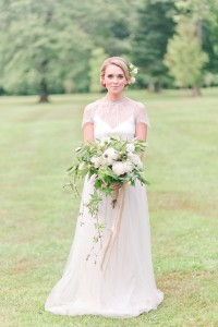 Spring Wedding Dress - Romantic Spring Wedding Inspiration in Pretty Pastels and Rose Gold