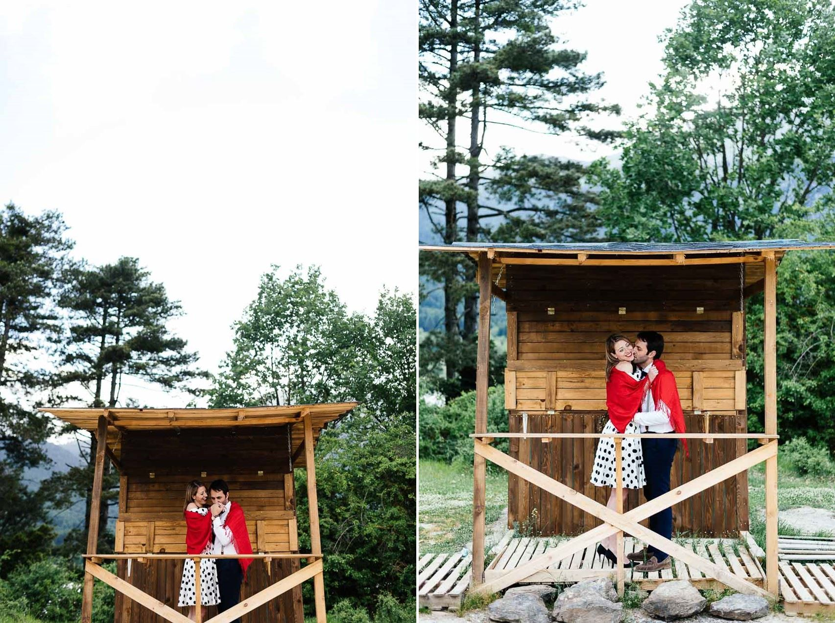 A Romantic 1950s Inspired Engagement Shoot in the Mountains