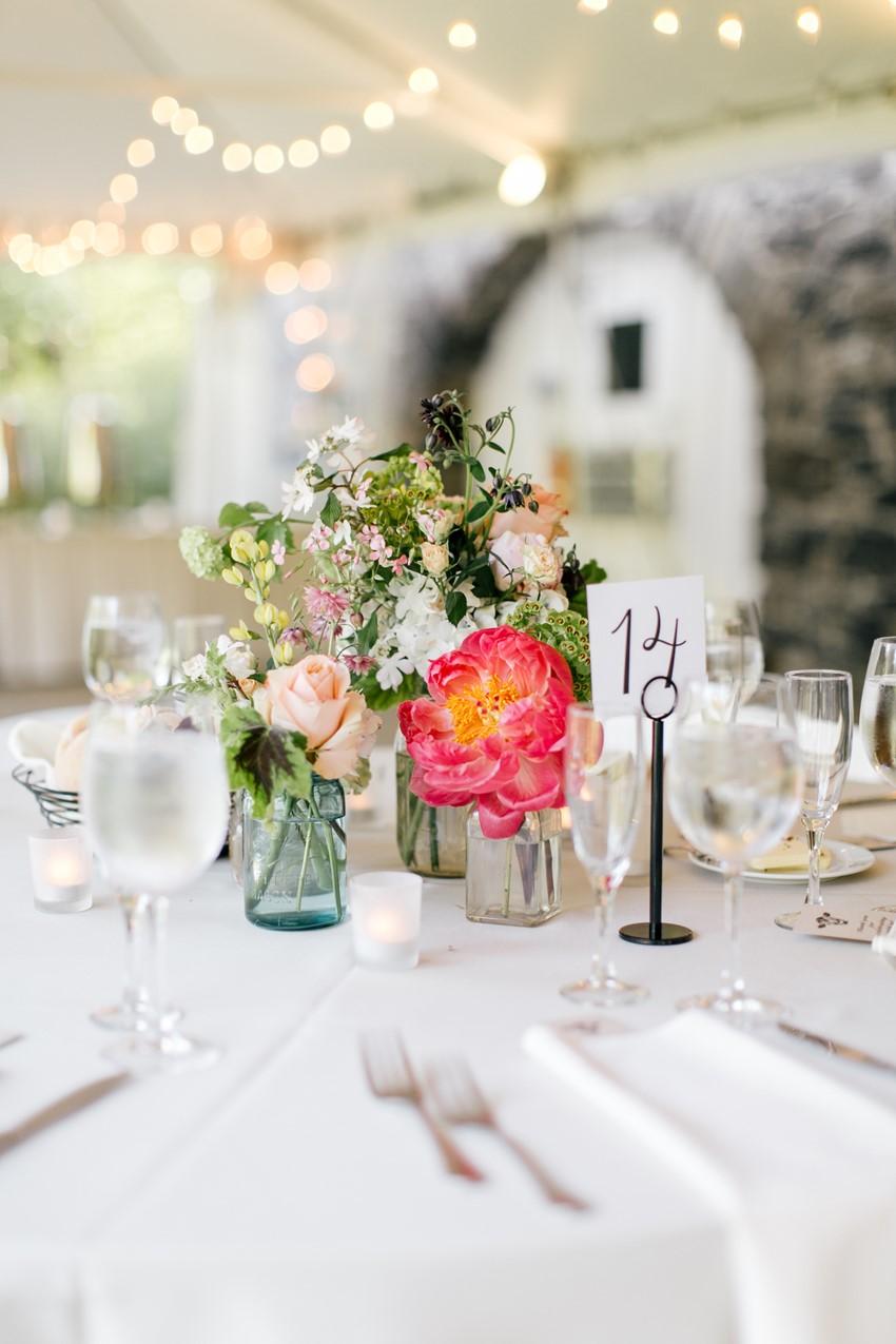 Wedding Reception Centrepiece - An Enchanting and Elegant Vintage Garden Wedding