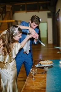Unconventional Wedding Cake - A DIY City Wedding with a Stunning 1930s Wedding Dress