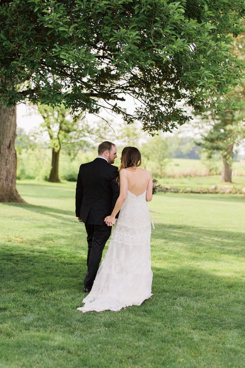 Outdoor Wedding Ceremony - A Romantic Modern-Vintage Wedding with an Elegant Barn Reception Romantic Modern-Vintage Wedding with an Elegant Barn Reception