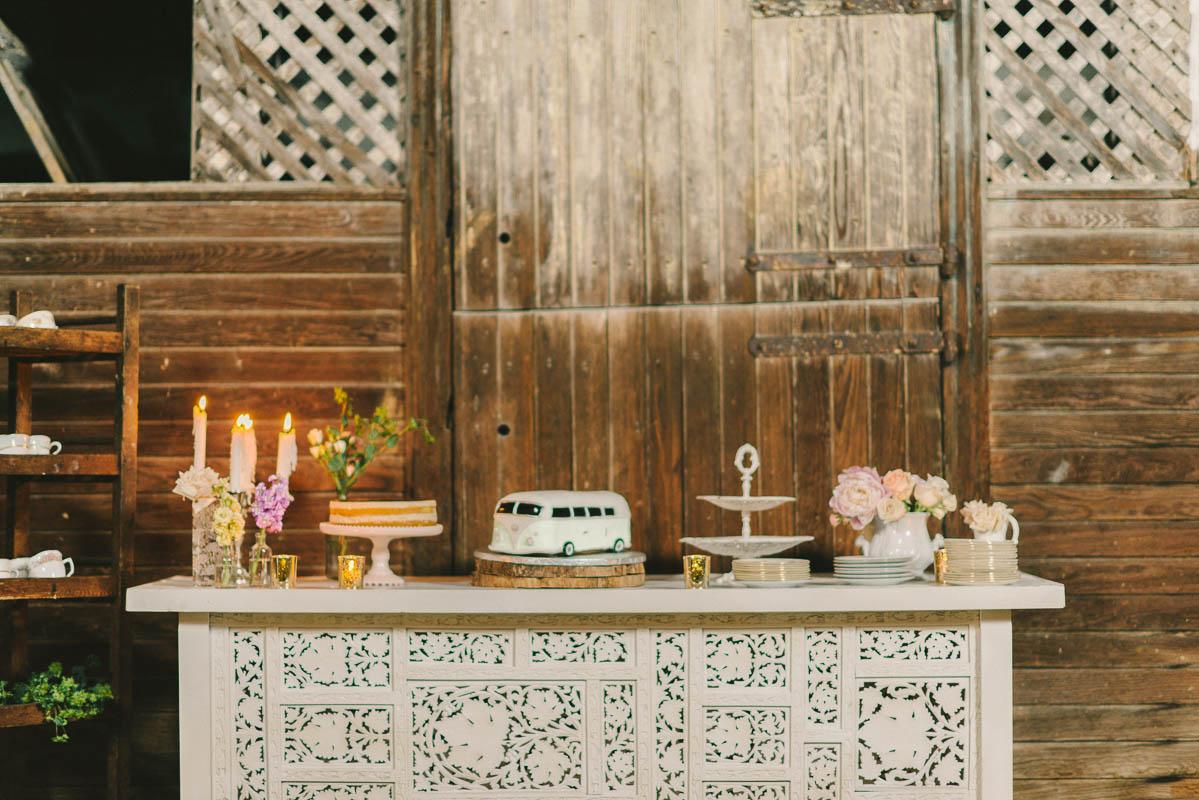 Dessert Table  - A Romantic Vintage Spring Wedding