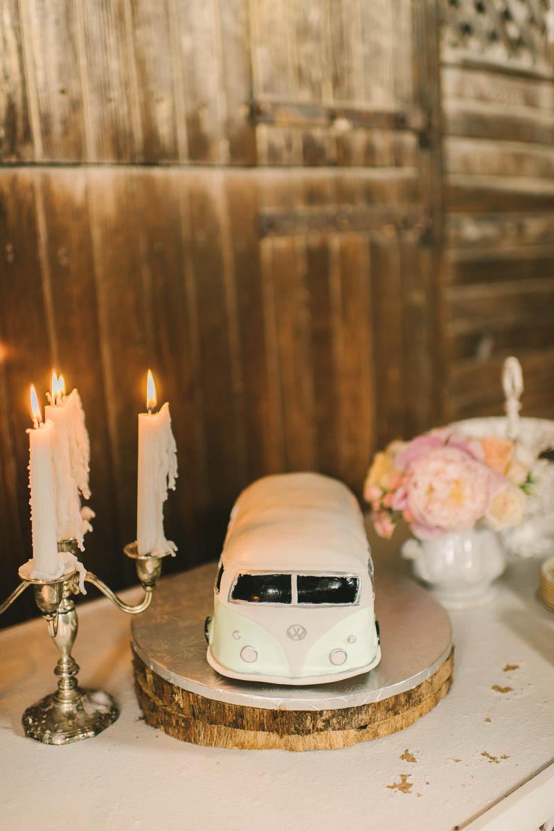 VW Camper Wedding Cake - A Romantic Vintage Spring Wedding