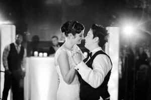 First Dance at an Elegant Same Sex Wedding - A Vintage Inspired City Wedding in a Crisp and Elegant Palette of Ivory, Black & Green