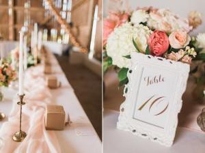 Elegant Barn Wedding Tablescape - A Romantic Modern-Vintage Wedding with an Elegant Barn Reception Romantic Modern-Vintage Wedding with an Elegant Barn Reception
