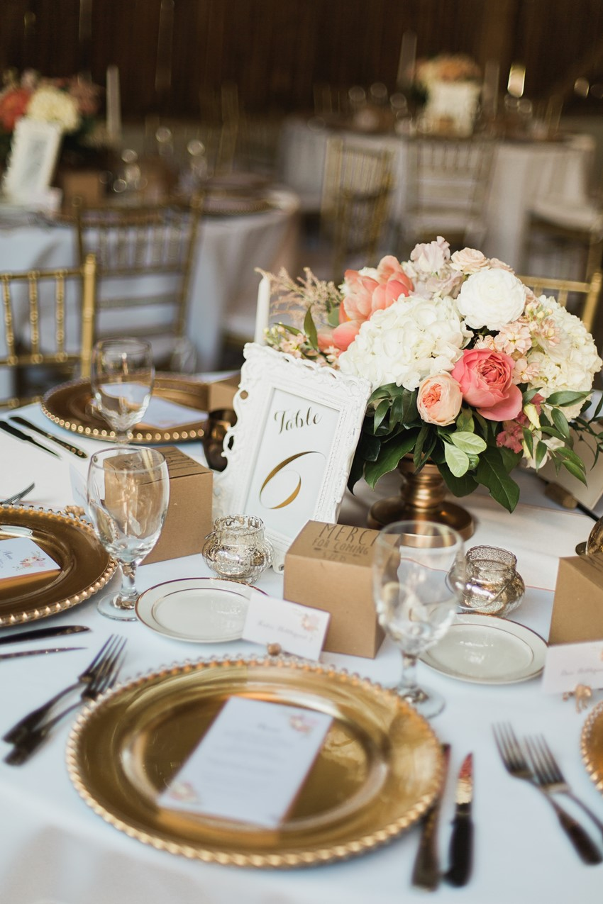 Elegant Barn Wedding Tablescape