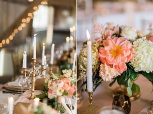 Elegant Wedding Tablescape - A Romantic Modern-Vintage Wedding with an Elegant Barn Reception Romantic Modern-Vintage Wedding with an Elegant Barn Reception