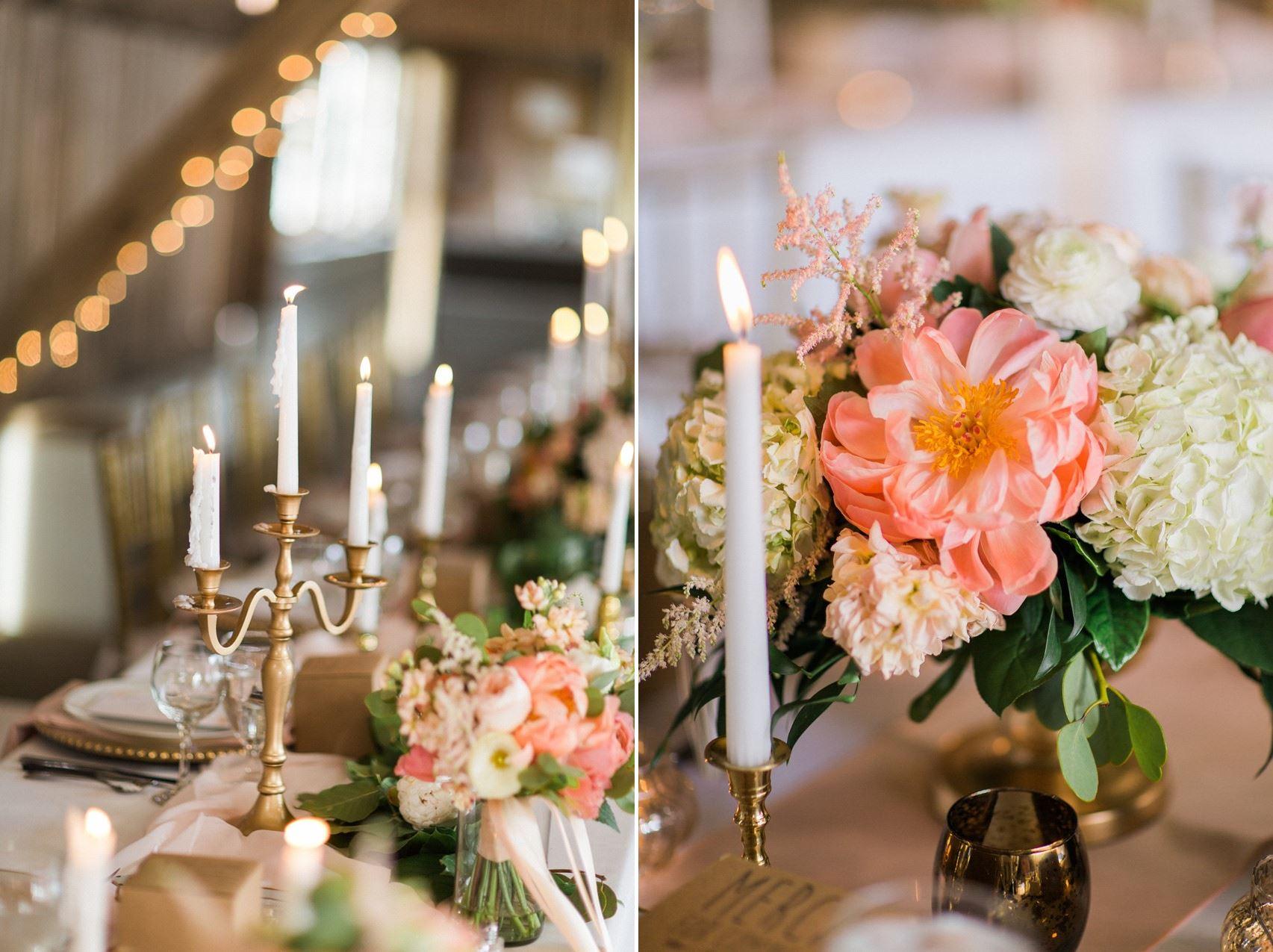 Elegant Wedding Tablescape A Modern Vintage With An Barn Reception
