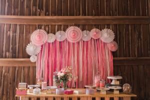 Wedding Dessert Table - A Romantic Modern-Vintage Wedding with an Elegant Barn Reception Romantic Modern-Vintage Wedding with an Elegant Barn Reception