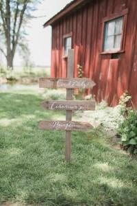 Wedding Signage - A Romantic Modern-Vintage Wedding with an Elegant Barn Reception