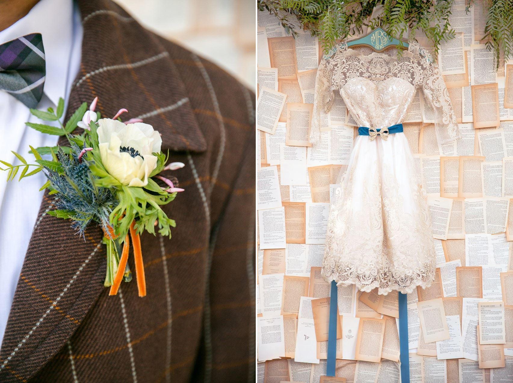 Vintage Wedding Dress - Mid-Century Vintage Wedding Shoot Inspired by Penguin Books