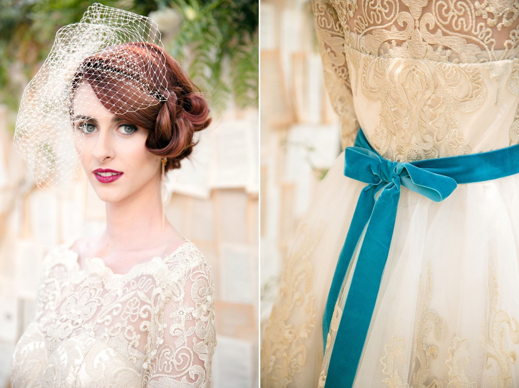 Vintage Bride - Mid-Century Vintage Wedding Shoot Inspired by Penguin Books