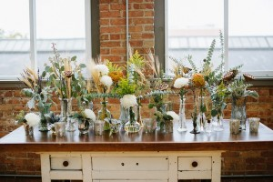 Vintage Wedding Decor - A DIY City Wedding with a Stunning 1930s Wedding Dress