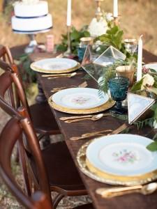 Autumn Vintage Wedding Tablescape