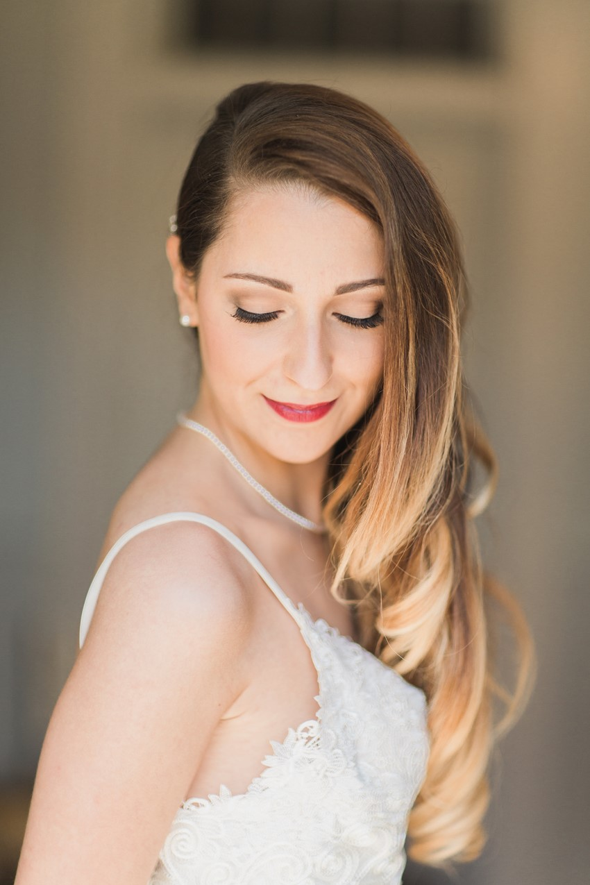 Glamorous Vintage Bridal Hair - A Romantic Modern-Vintage Wedding with an Elegant Barn Reception