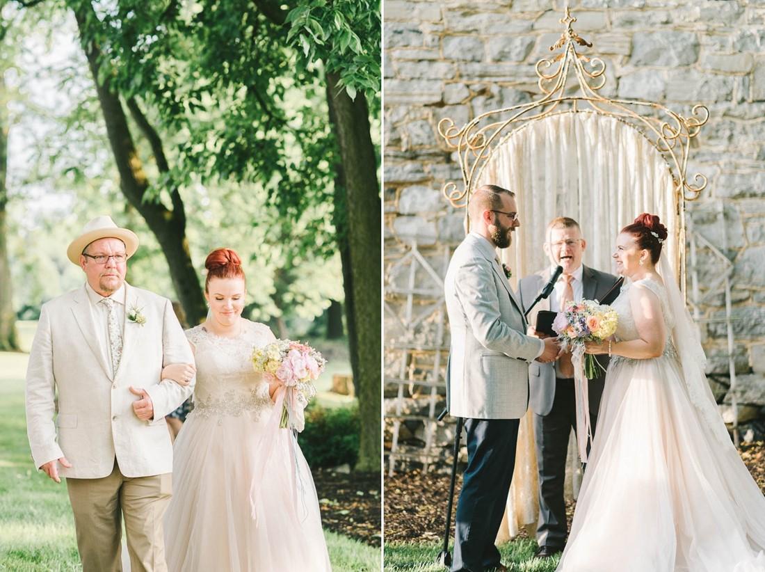 Outdoor Wedding Ceremony - A Romantic Vintage Spring Wedding