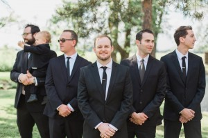 Modern Vintage Groom & Groomsmen - A Romantic Modern-Vintage Wedding with an Elegant Barn Reception