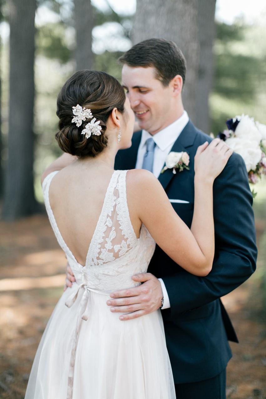 Bridal Updo - An Enchanting and Elegant Vintage Garden Wedding
