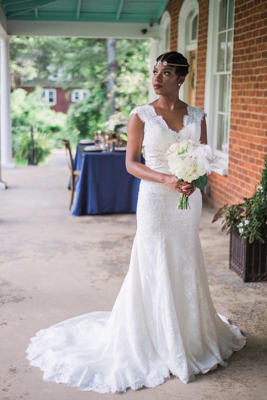 Art Deco Inspired Bride - Stylish Jazz Age Wedding inspiration Full of Decadence