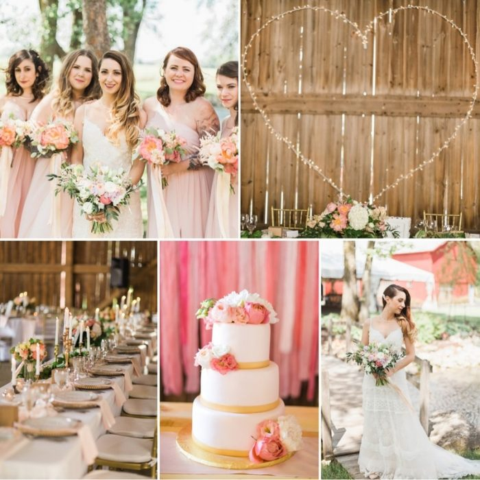 A Romantic Modern-Vintage Wedding with an Elegant Barn Reception