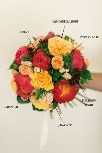 Bouquet Recipe - A Pretty Bridal Bouquet of Peonies & Roses