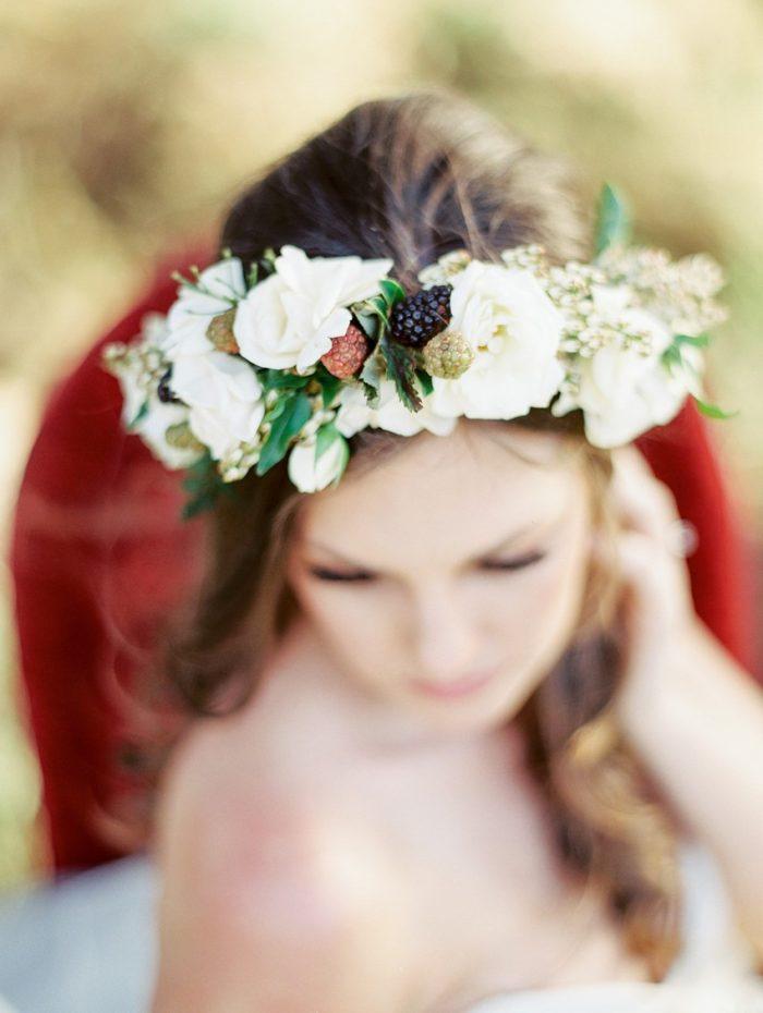 White Bridal Flower Crown