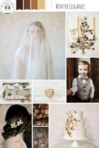 Winter Elegance – Beautiful Winter Wedding Inspiration Board in Coffee, Bronze & Gold